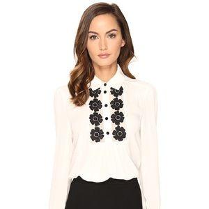 NWT Kate Spade Daisy Lace Silk Button Up-Sz M